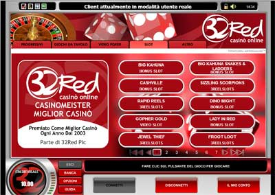 32red Casino Lobby Cassa