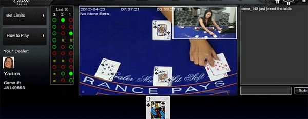 blackjack live in diretta con live dealer